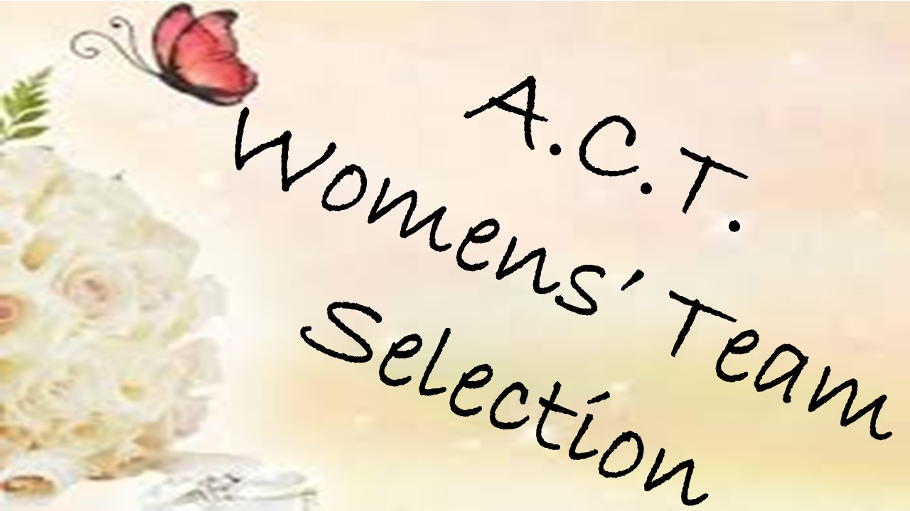 ACT Womens Team Selection