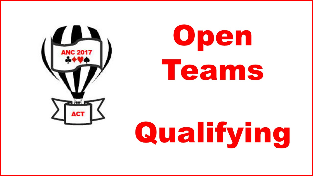 ANC Qualfying Open Teams