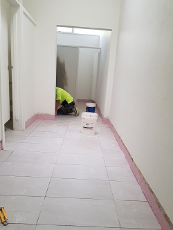mens bathroom tiling
