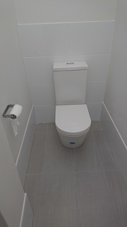 mens toilet installed