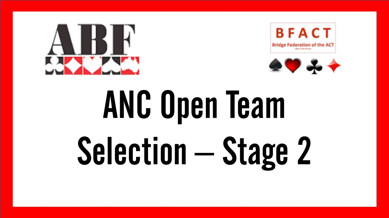 State ANC Open Team Selection Stage 2