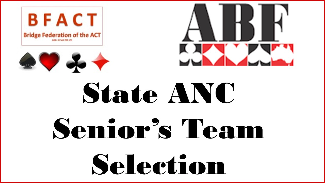 State ANC Seniors Team Selection