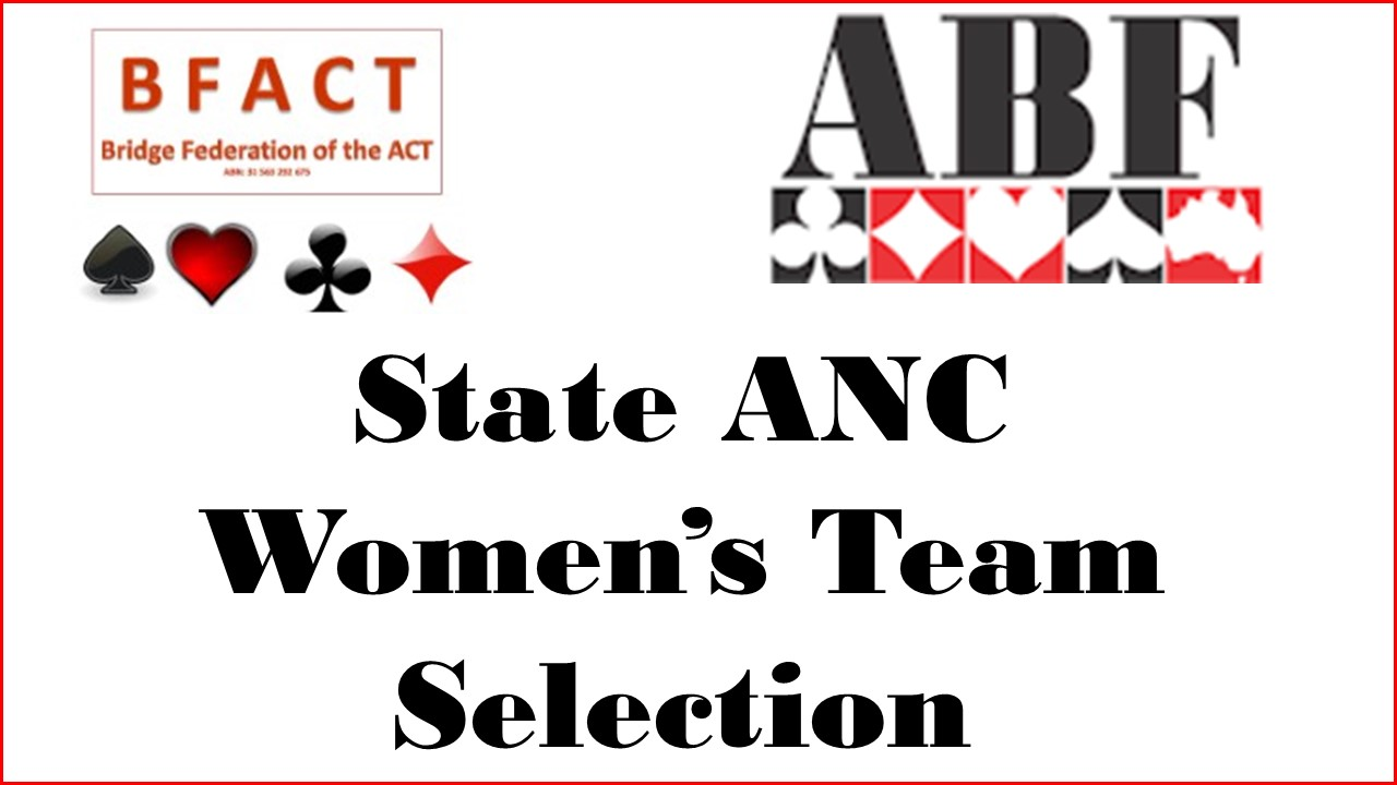 State ANC Womens Team Selection