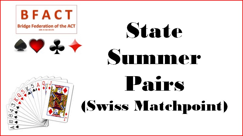 State Summer Pairs Swiss Matchpoint
