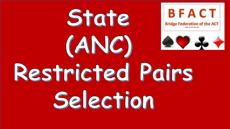 state ANC Restricted selection for pairs