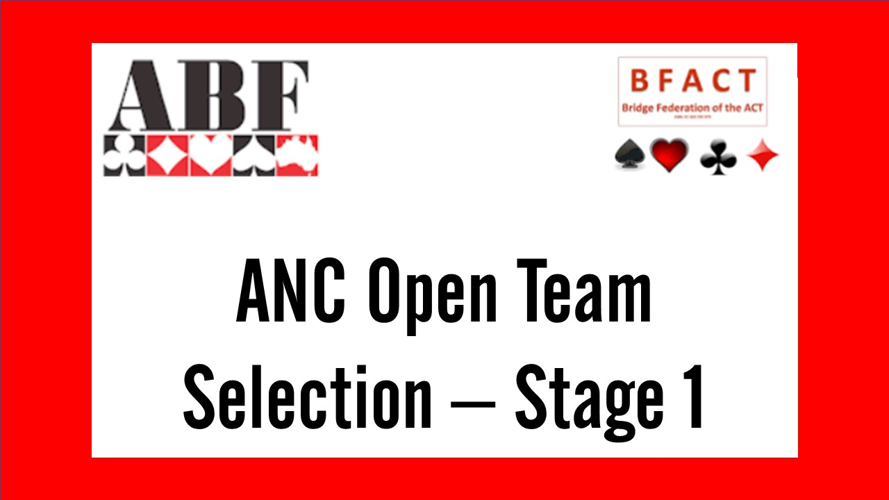 State ANC Open Team Selection Stage 1